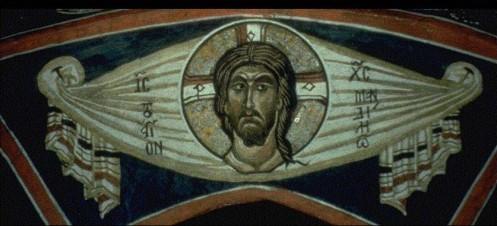 El Mandylion. Iglesia de Panagia Phorbiotisa, Asinou, Chipre. Siglo XII